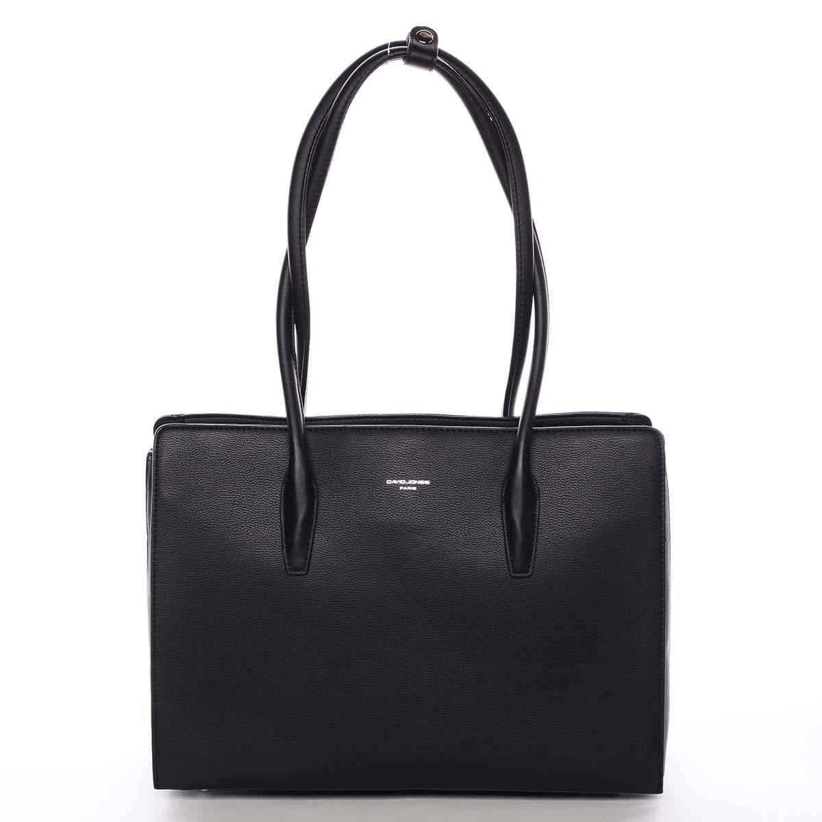 Veľká dámska kabelka cez rameno čierna - David Jones Adalgisa čierna