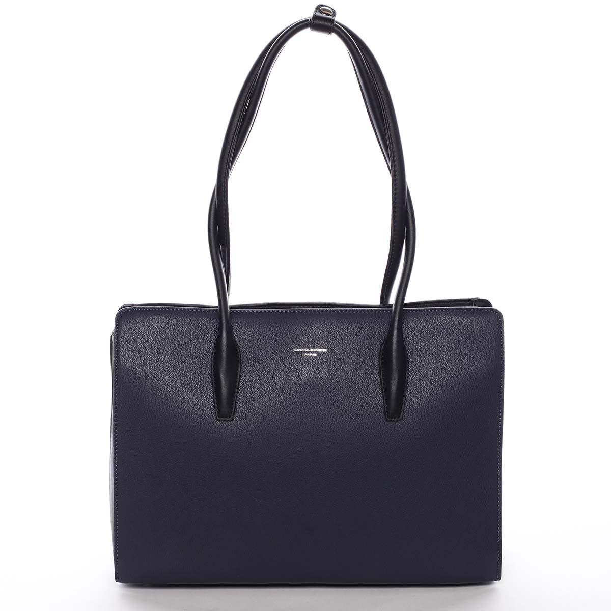 Veľká dámska kabelka cez rameno tmavo modrá - David Jones Adalgisa modrá