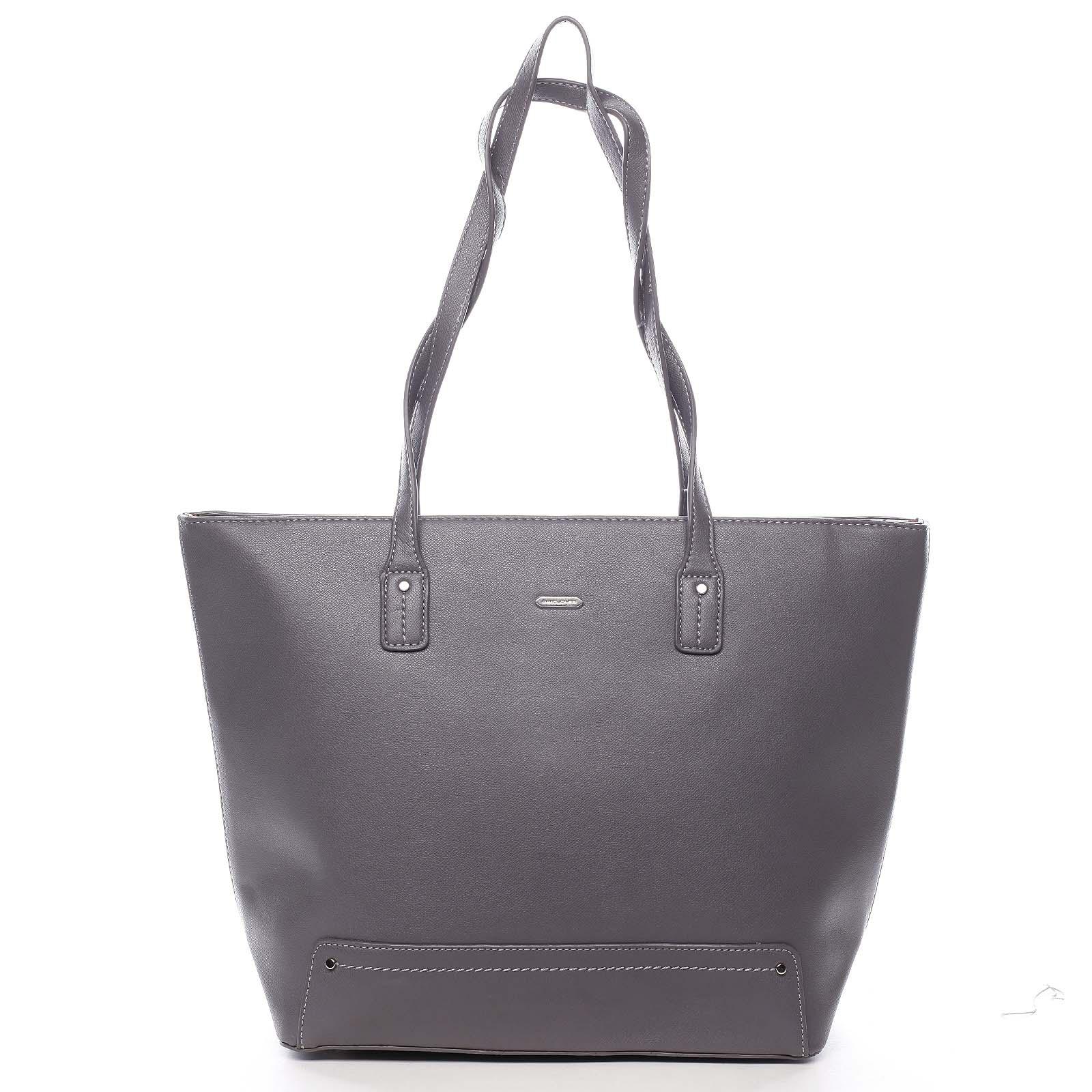Dámska kabelka cez rameno tmavo šedá - David Jones Yakini šedá