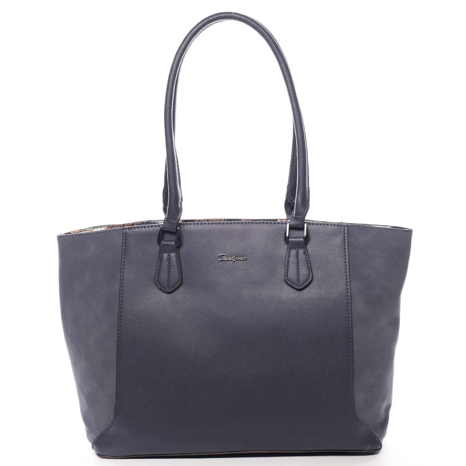 Veľká dámska kabelka cez rameno tmavo modrá - David Jones Matter modrá