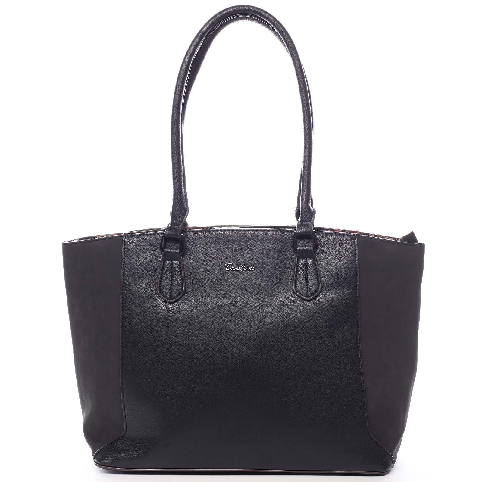 Veľká dámska kabelka cez rameno čierna - David Jones Matter čierna