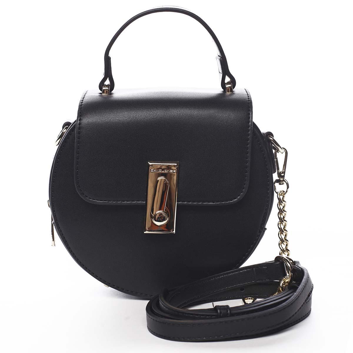 Luxusná dámska kabelka čierna - David Jones Magnify čierna