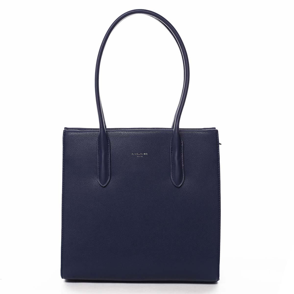 Dámska kabelka cez rameno tmavo modrá - David Jones Sementis tmavo modra