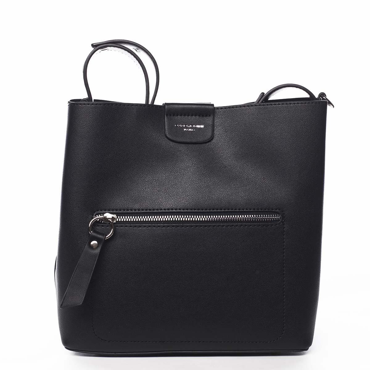 Dámska kabelka cez rameno čierna - David Jones Salma čierna