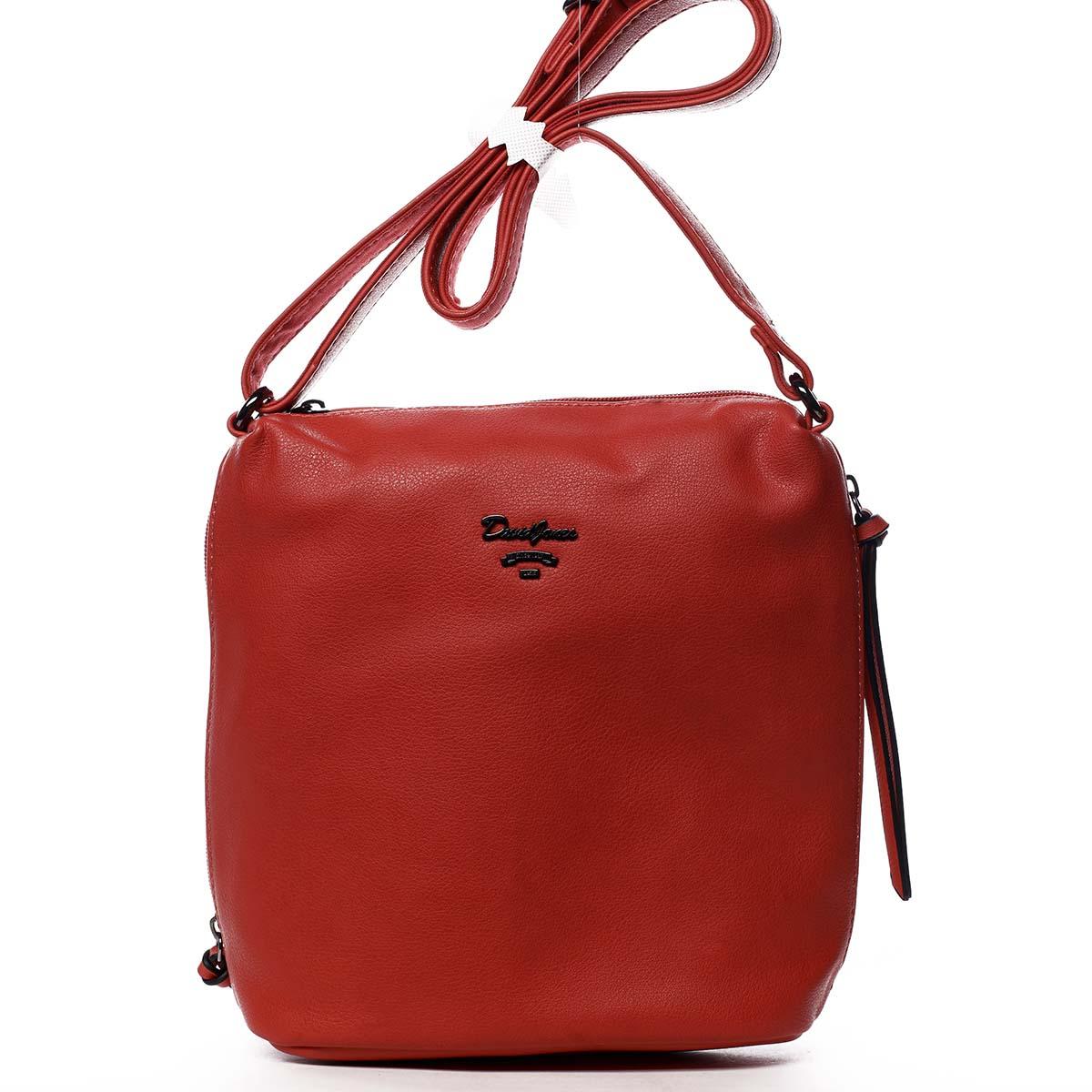 Dámska crossbody kabelka červená - David Jones Haley červená