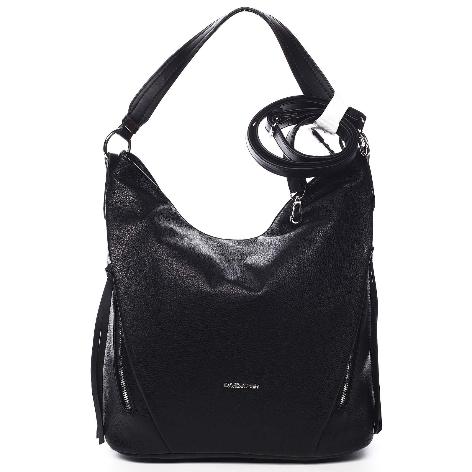Dámska kabelka cez rameno čierna - David Jones Rihanna čierna