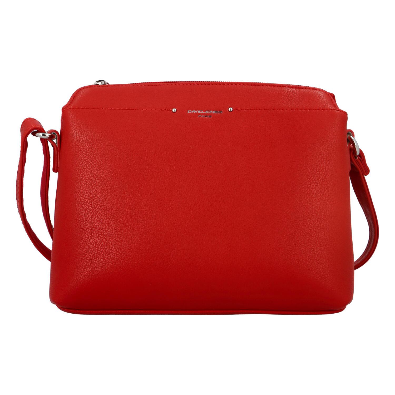 Dámska crossbody kabelka červená - David Jones Chinhy červená
