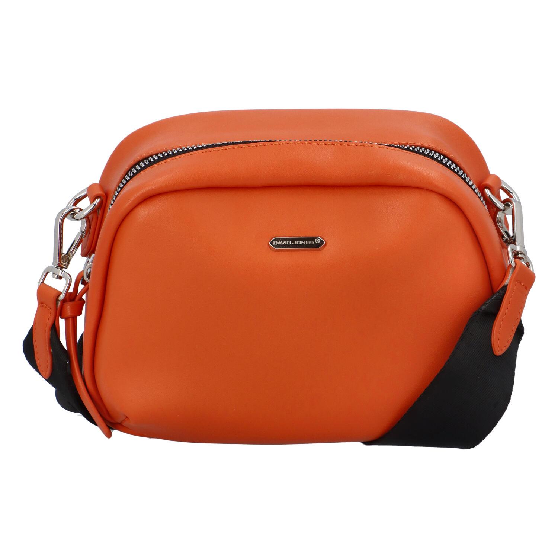 Malá dámska crossbody kabelka oranžová - David Jones Zabi oranžová