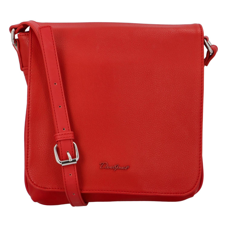 Dámska crossbody kabelka červená - David Jones Qualiny červená