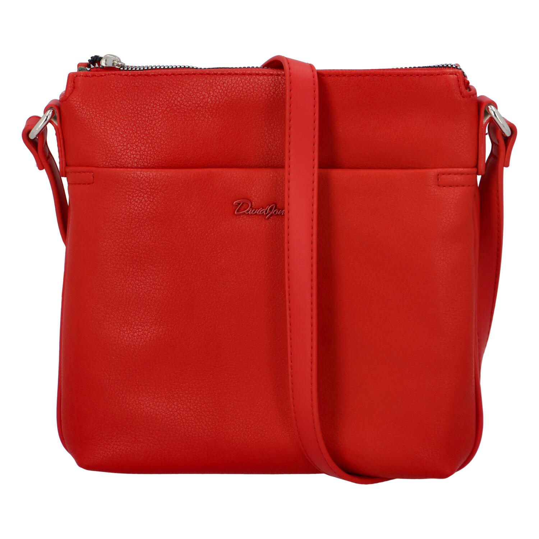 Dámska crossbody kabelka červená - David Jones Quali červená