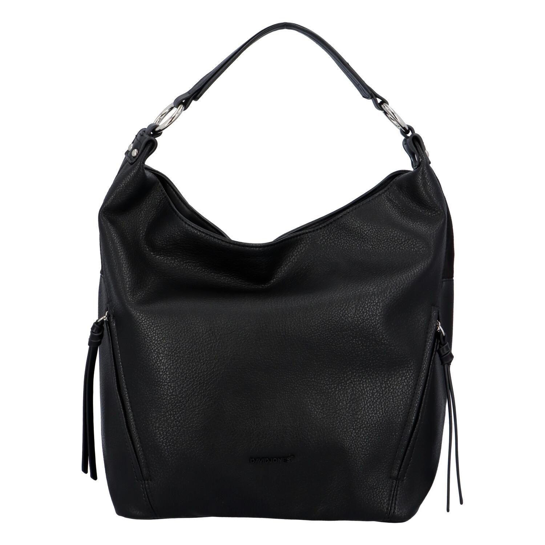 Veľká dámska kabelka čierna - David Jones Rimassa čierna
