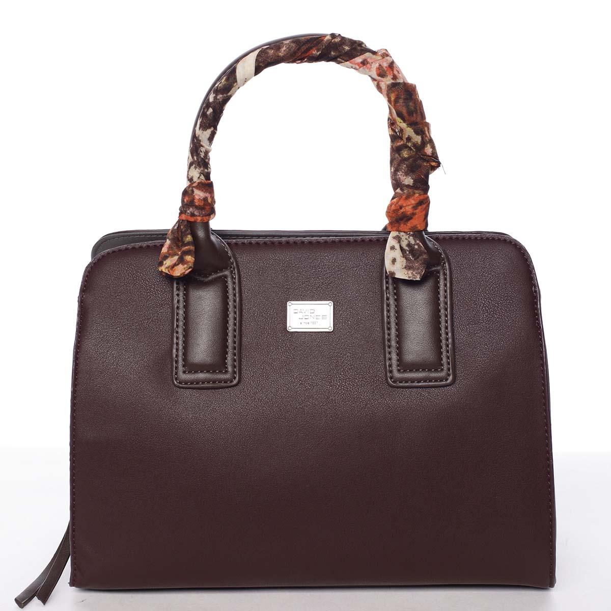 Štýlová trendy dámska kabelka do ruky tmavofialová - David Jones Crescent fialová