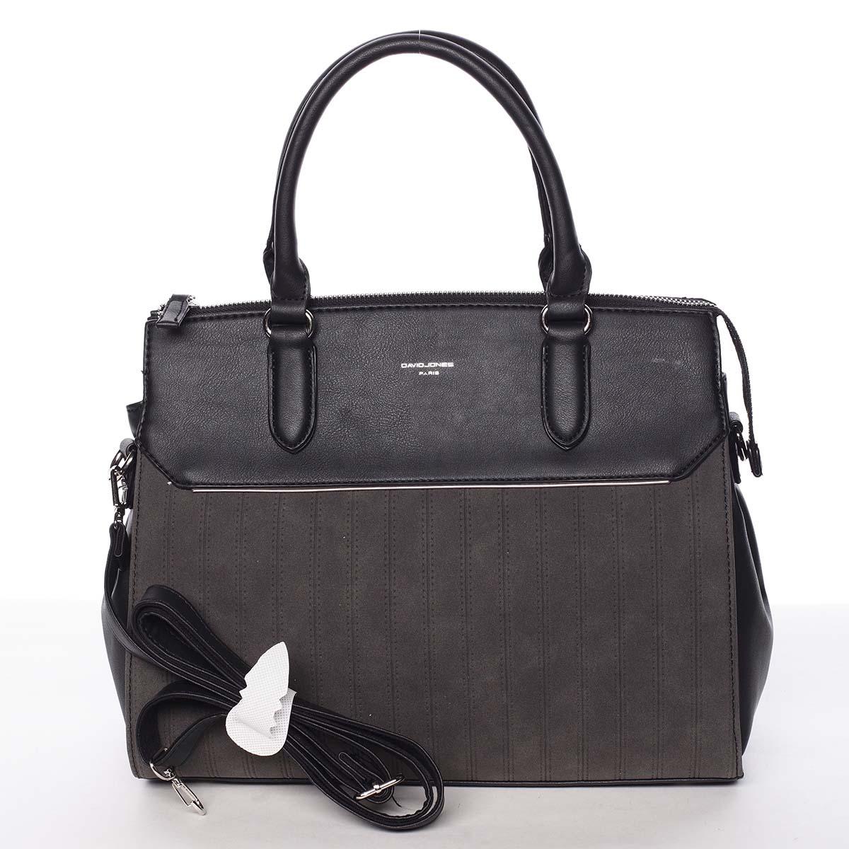 Luxusná nadčasová dámska čierna kabelka - David Jones Allison čierna