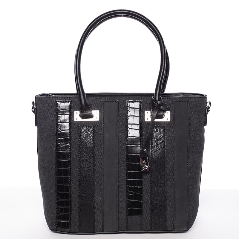 Väčšia módna čierna dámska kabelka - David Jones Leitha čierna