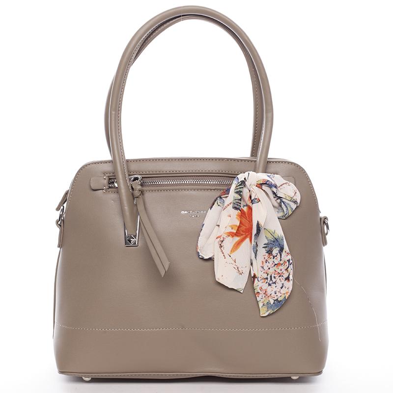 Elegantná trendy khaki kabelka do ruky - David Jones Felicity Khaki