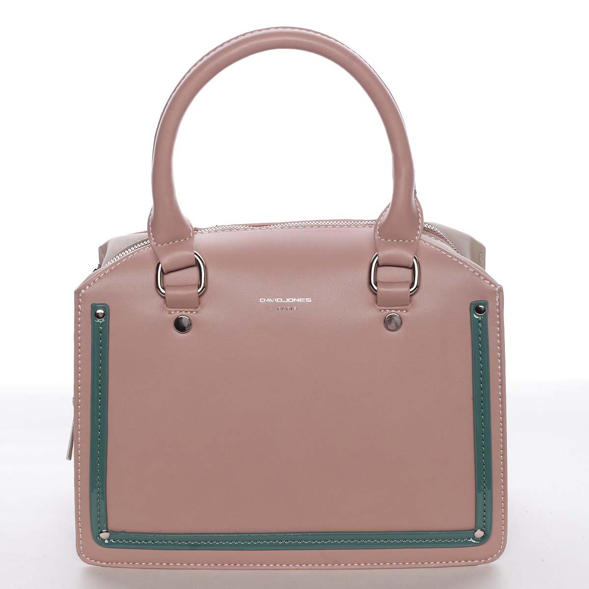 Malá originálna dámska kabelka do ruky ružová - David Jones Aglaia ružová