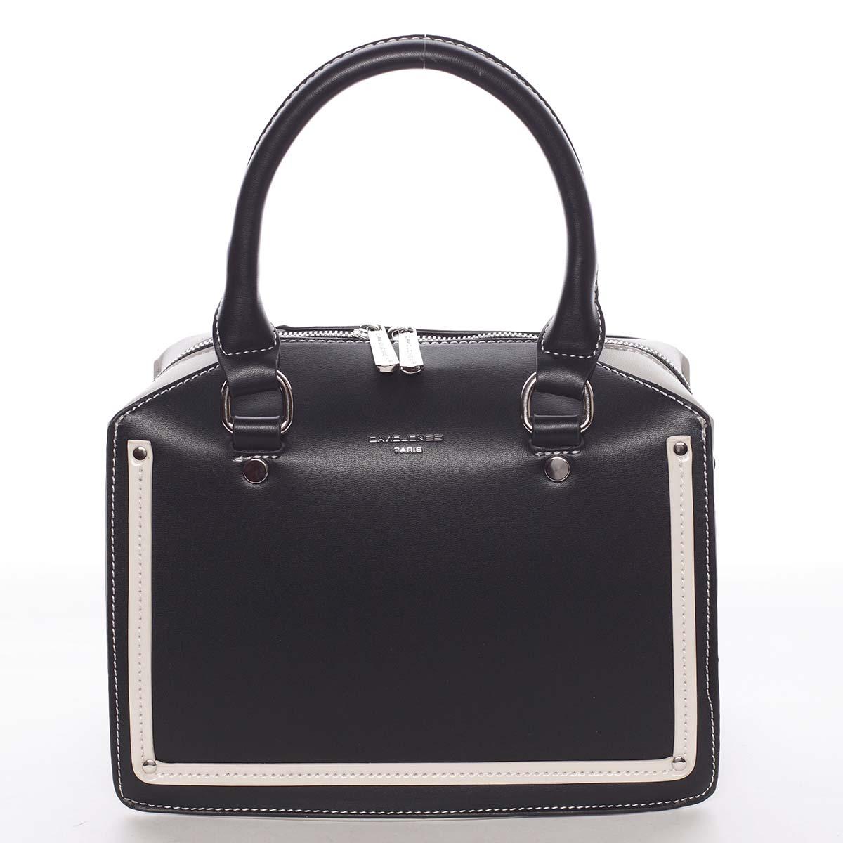 Malá originálna dámska kabelka do ruky čierna - David Jones Aglaia čierna