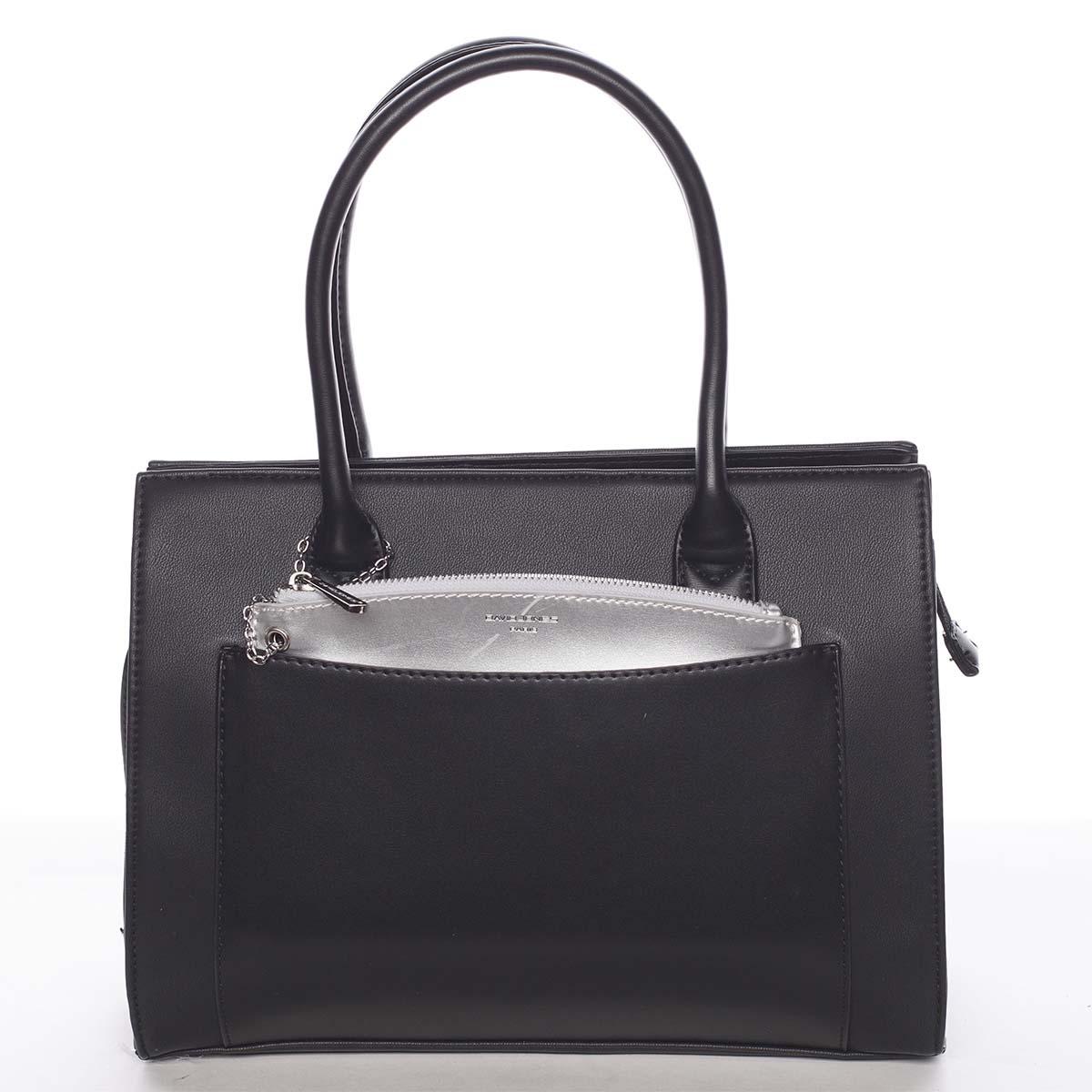 Exkluzívna dámska čierna kabelka - David Jones Hillary čierna