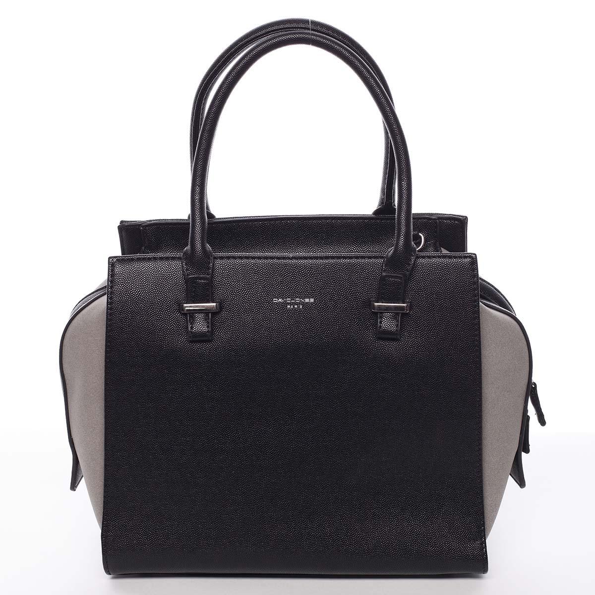 Luxusná módna čierna kabelka cez rameno - David Jones Ariana čierna