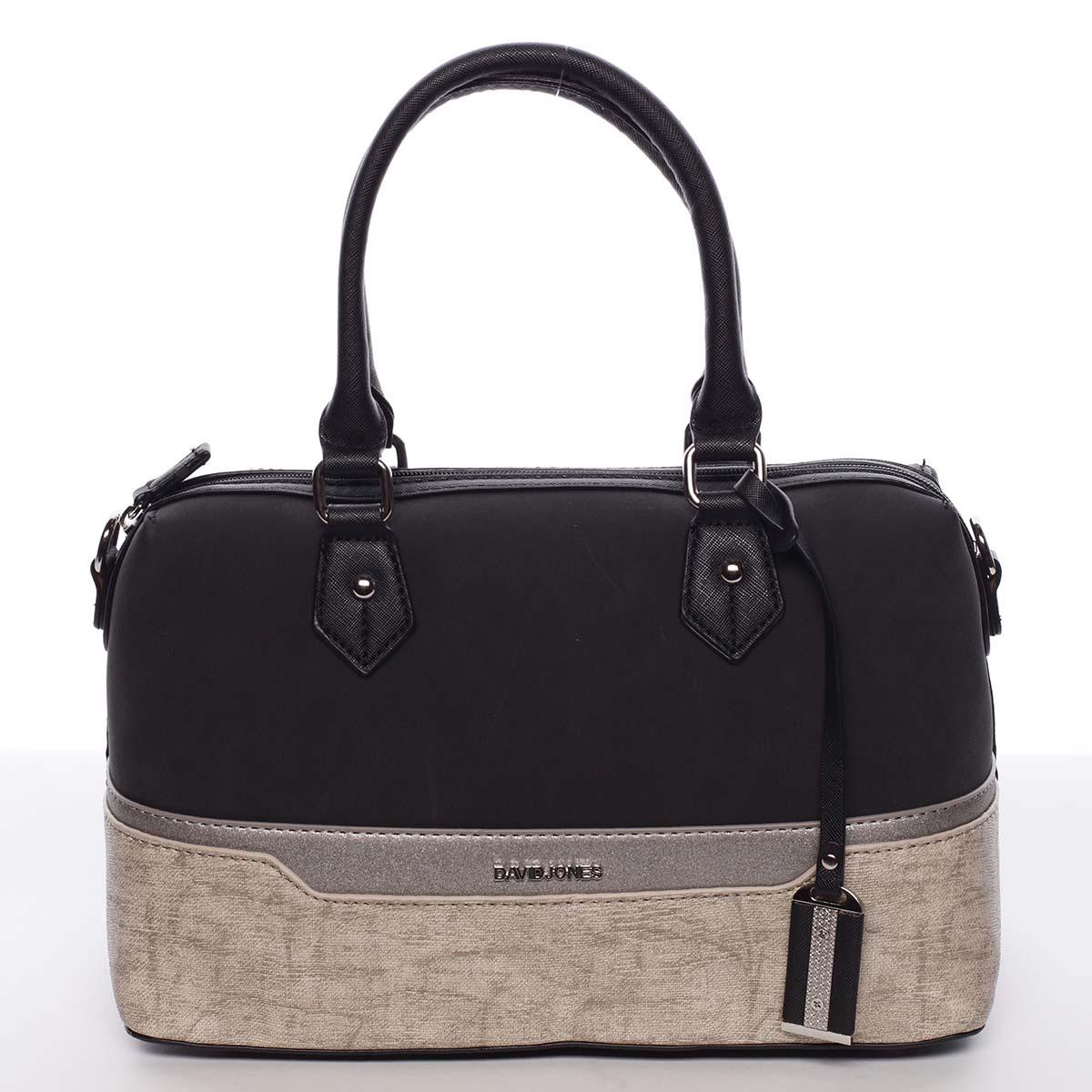 Elegantná a módna čierna dámska kabelka do ruky - David Jones Lizz čierna