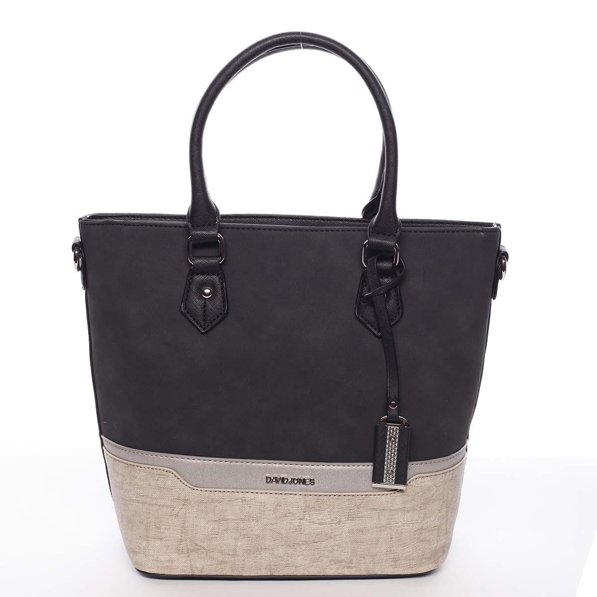Elegantná a módna čierna dámska kabelka do ruky - David Jones Angely čierna