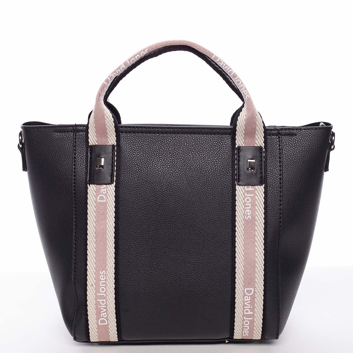 Moderná dámska čierna kabelka do ruky - David Jones Agna čierna