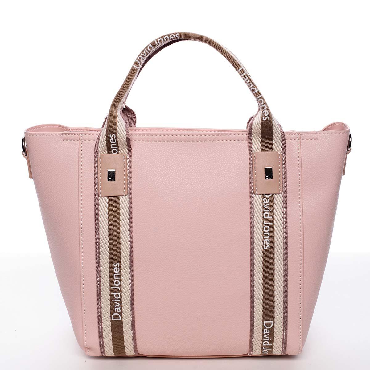 Moderná dámska ružová kabelka do ruky - David Jones Agna ružová