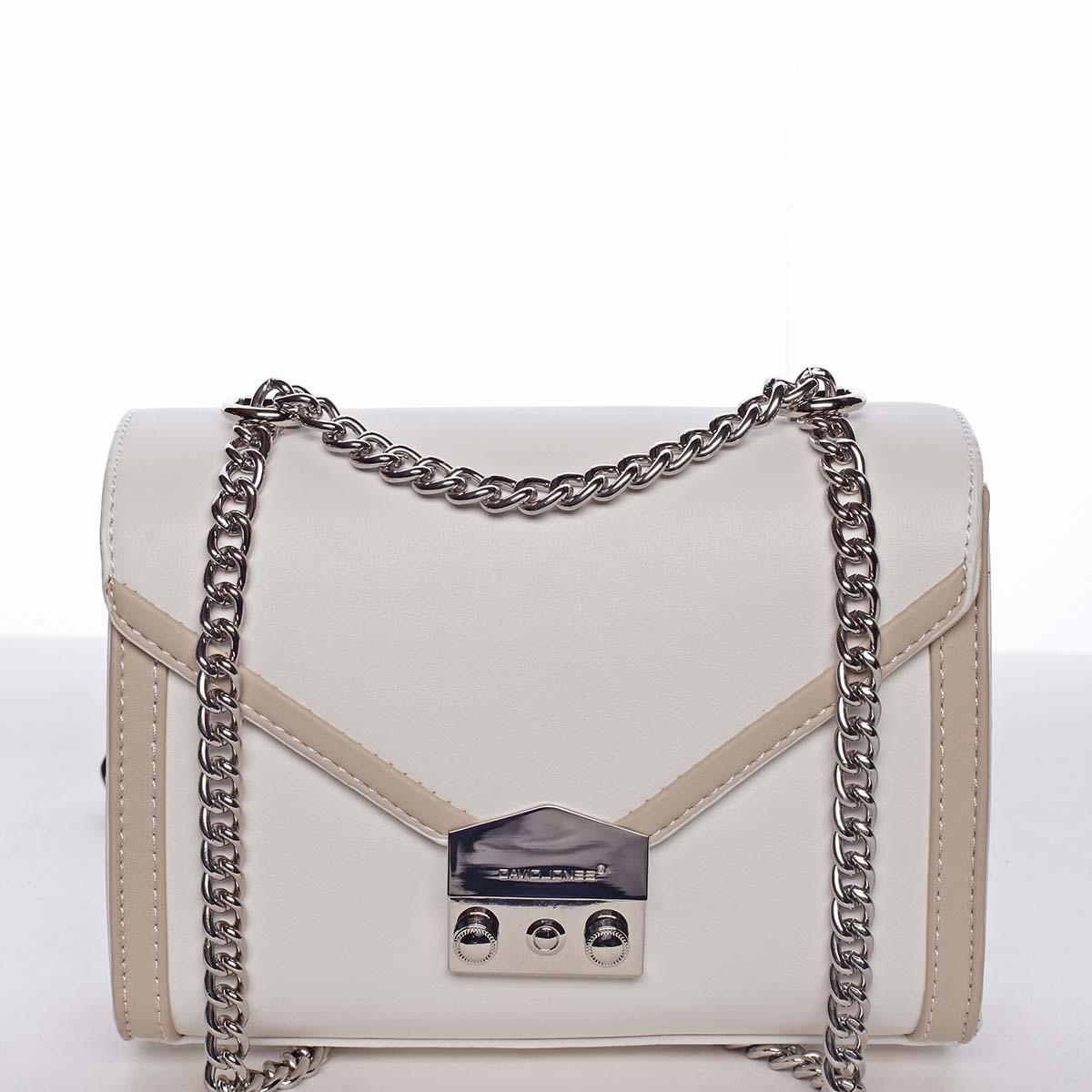 Malá dámska elegantná crossbody kabelka biela - David Jones Arianna biela