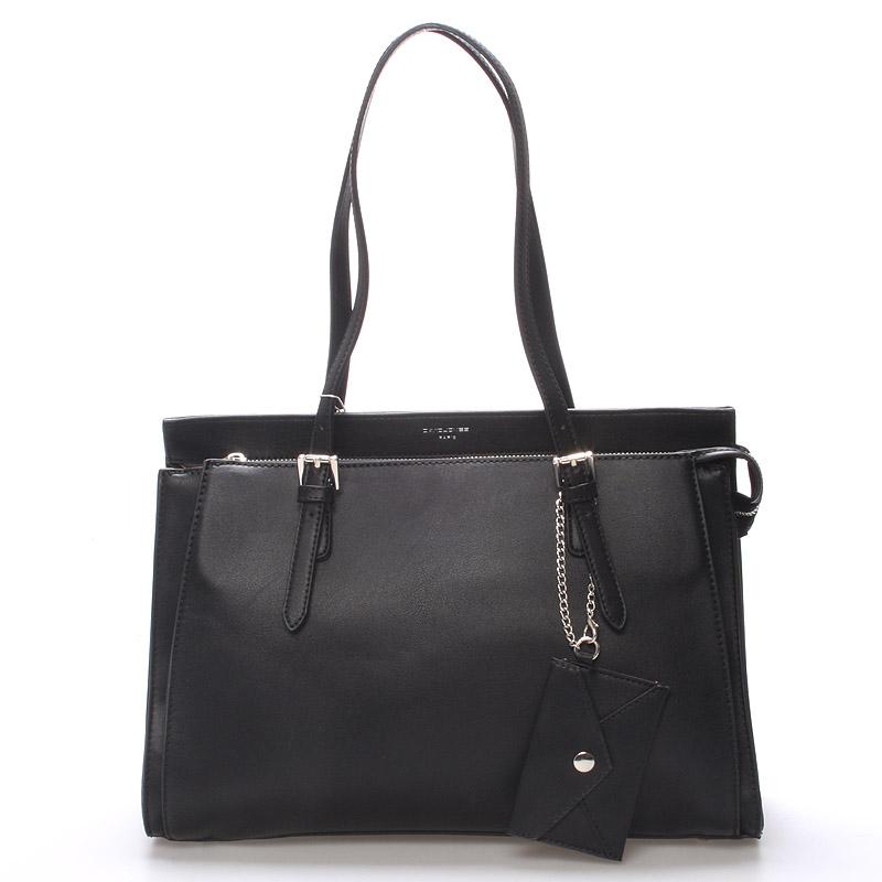 Elegantná čierna dámska kabelka cez rameno - David Jones Dennisa čierna
