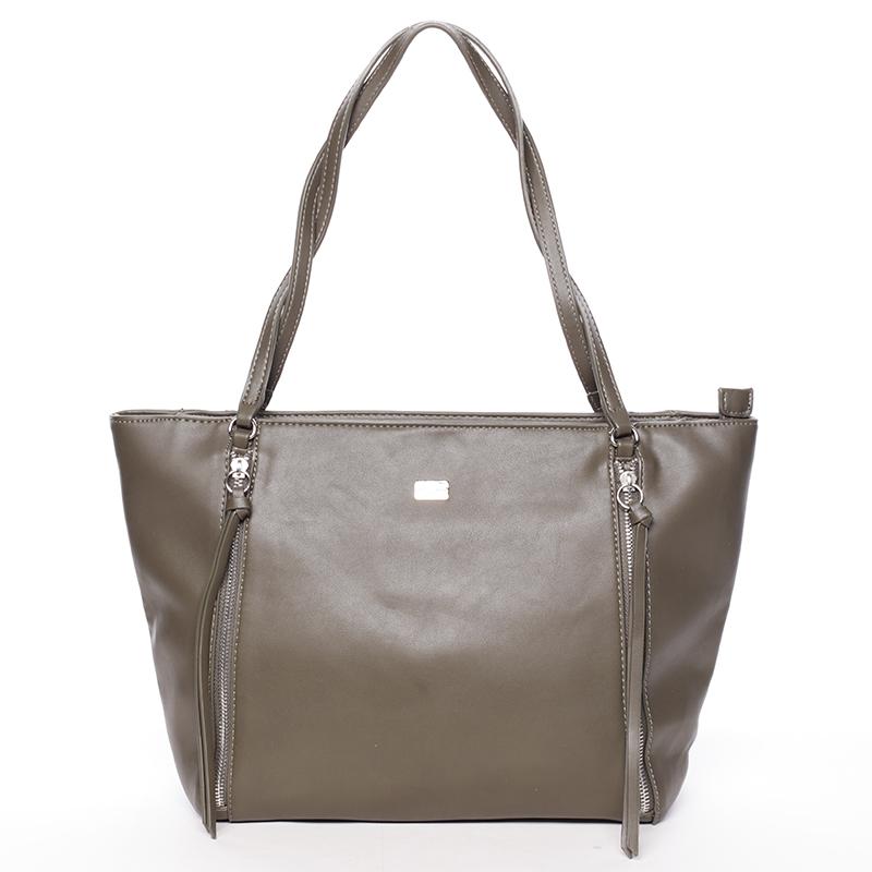 Elegantná khaki kabelka cez plece - David Jones Paola Khaki