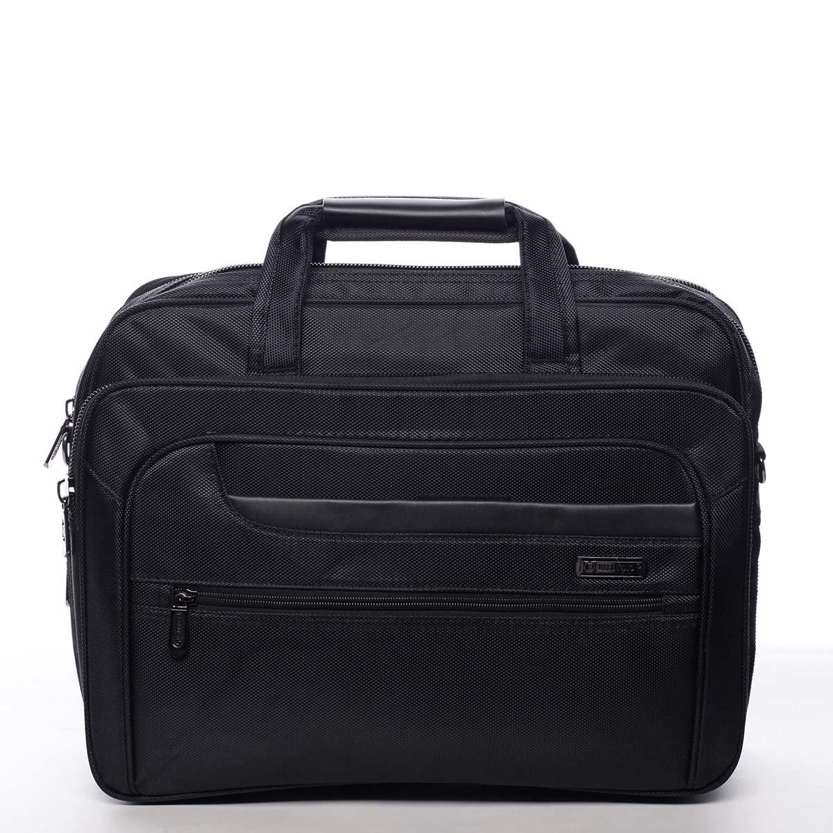 Pánska taška na notebook čierna - Bellugio Sina čierna