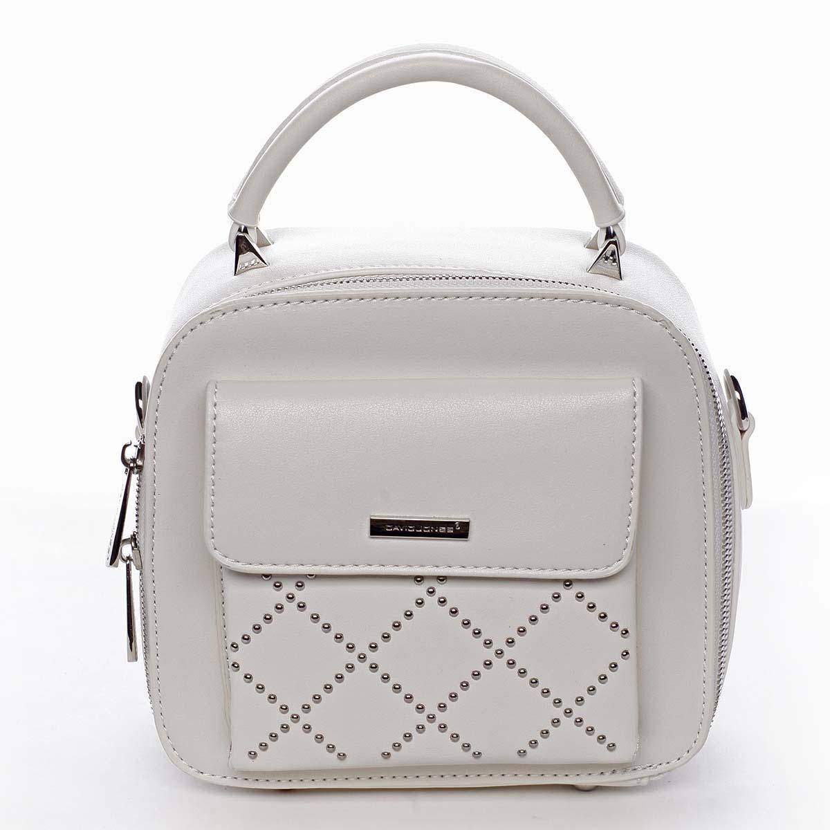 Luxusná malá dámska kabelka do ruky biela - David Jones Stela biela