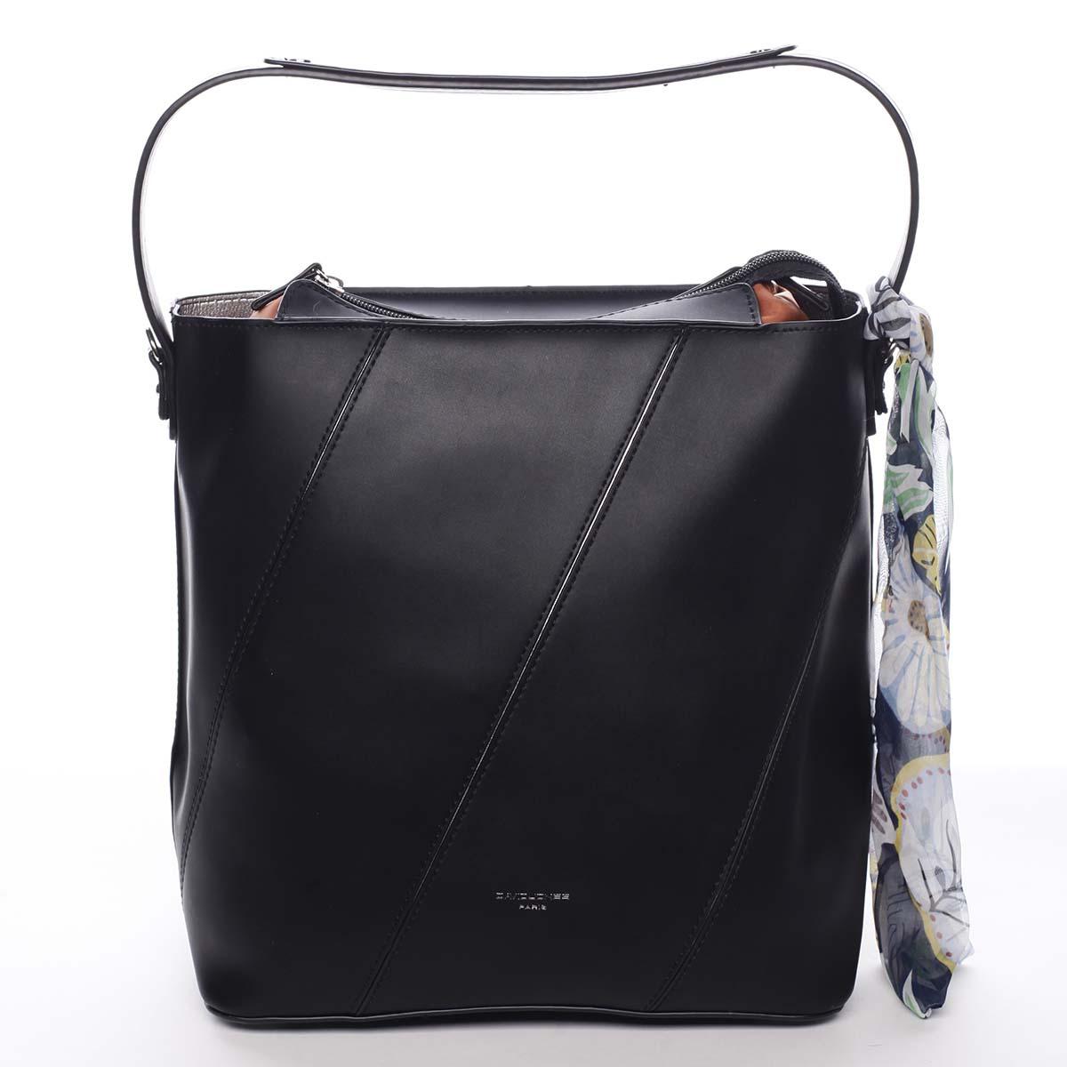 Elegantná dámska kabelka cez rameno čierna - David Jones Abena čierna