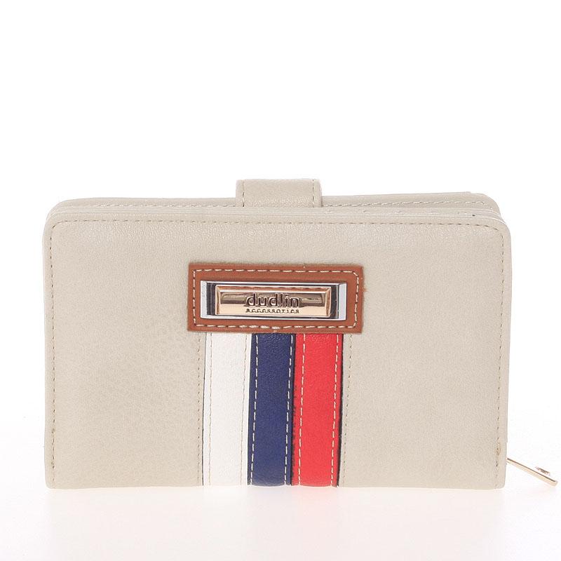 Stredná originálna dámska béžová peňaženka - Dudlin M384 béžová