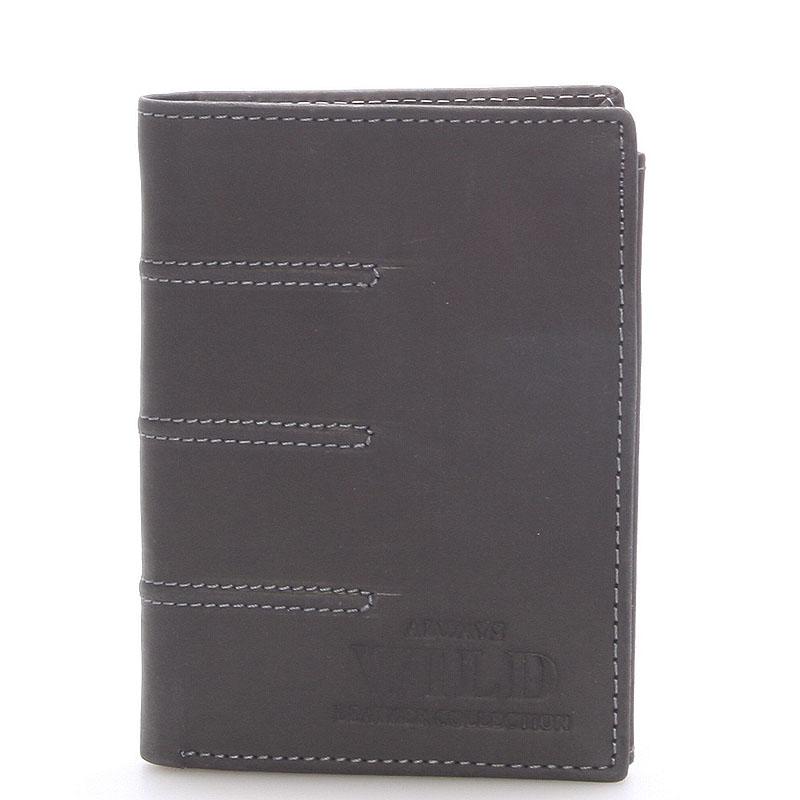 Pánska kožená peňaženka čierna - WILD Dyson čierna