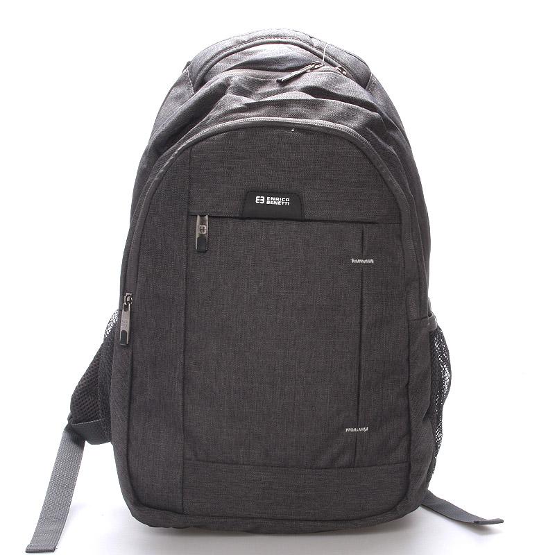 Moderní šedý batoh do školy - Enrico Benetti Acheron šedá