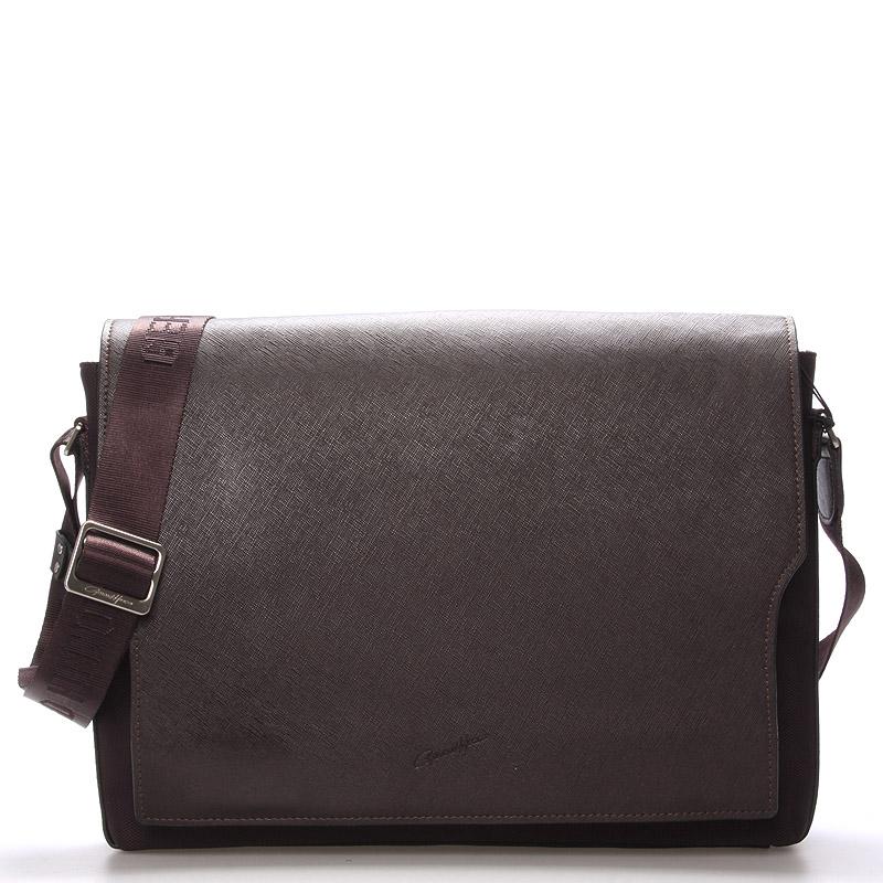 Pánska kožená taška cez rameno hnedá - Gerard HENON Jean hnedá