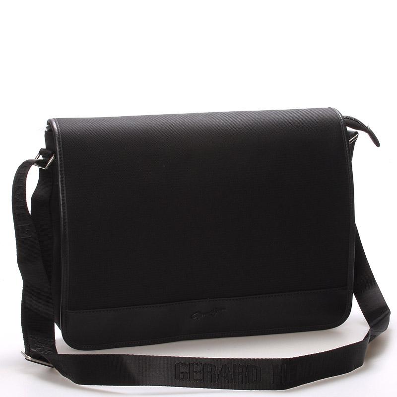 Pánska elegantná taška cez rameno čierna - Gerard HENON Laurent čierna