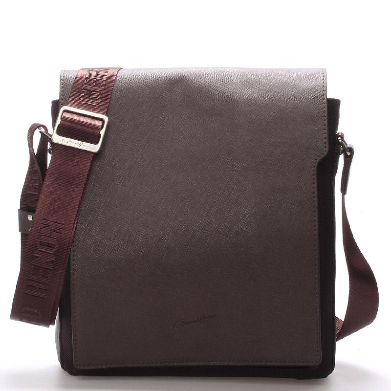 Pánska kožená taška cez rameno hnedá - Gerard HENON Curtiss hnedá