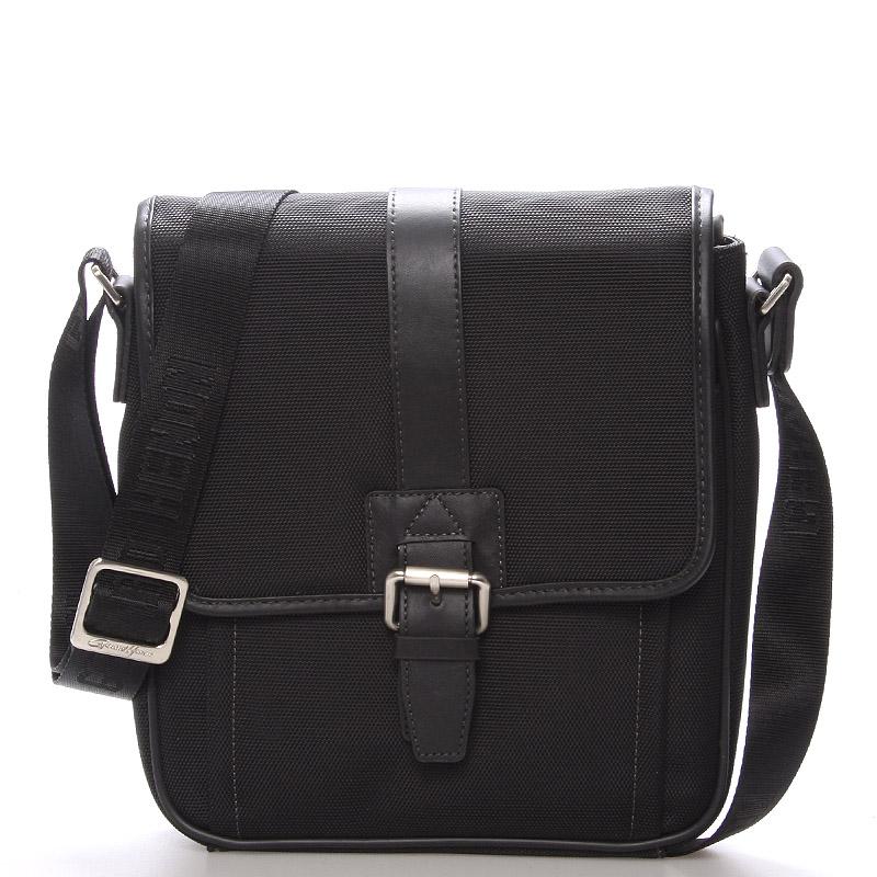 Pánska taška cez rameno na doklady čierna - Gerard HENON Florus čierna
