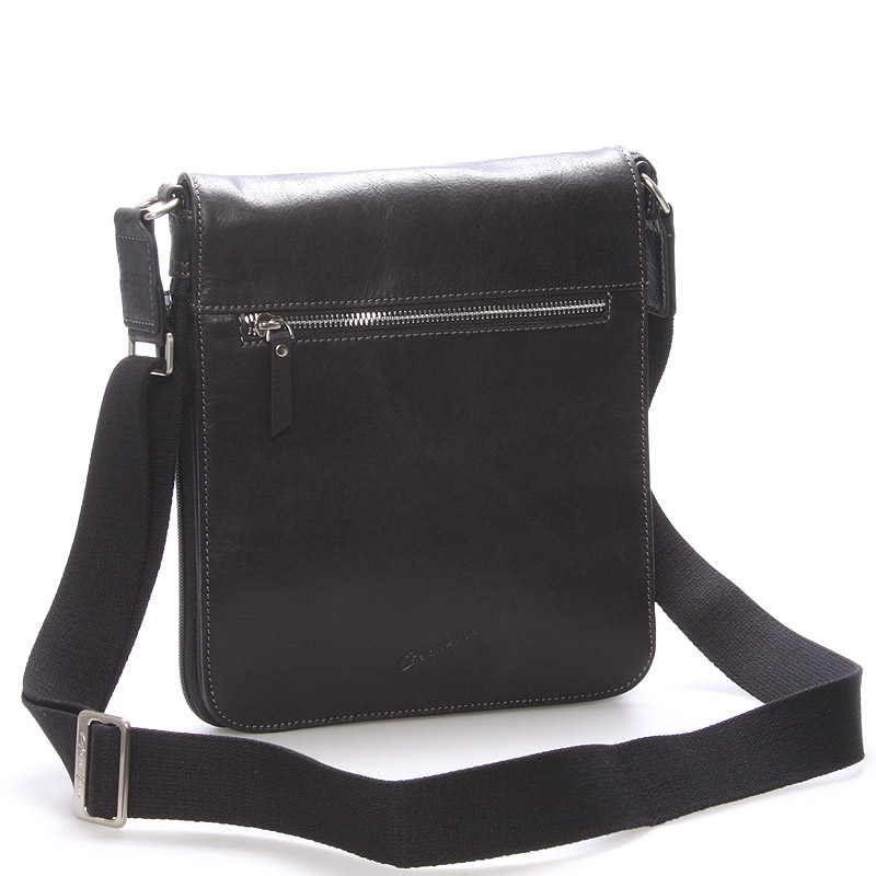 Pánska kožená taška cez rameno čierna - Gerard HENON Archard čierna