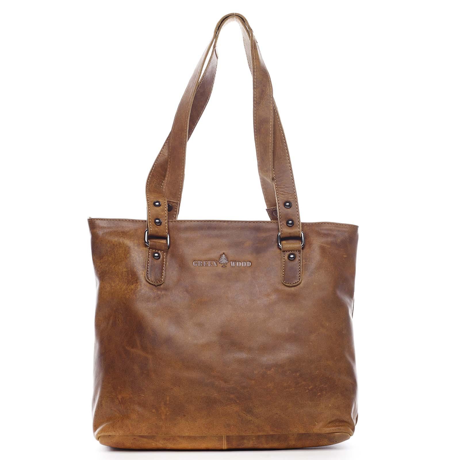 Dámska kožená kabelka cez rameno hnedá - Greenwood Arlissa hnedá