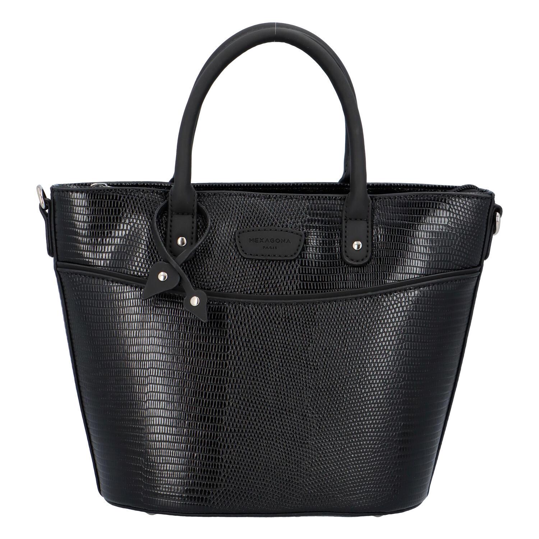 Malá dámska kabelka do ruky čierna - Hexagona SanDeep čierna