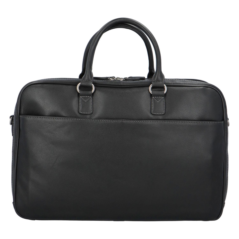 Dámska pracovná kožená taška čierna - Hexagona Daniella čierna