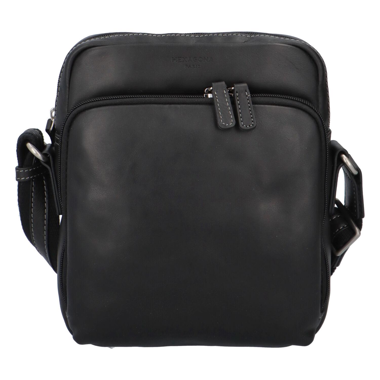 Pánska kožená taška na doklady čierna - Hexagona 823154 čierna