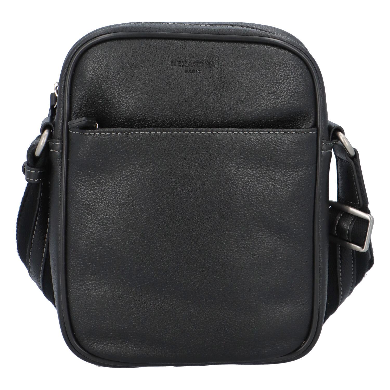Pánska kožená taška na doklady čierna - Hexagona 697462 čierna