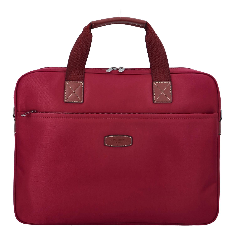 Luxusná taška na notebook tmavo červená - Hexagona 171176 červená