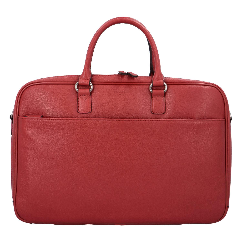 Dámska pracovná kožená taška červená - Hexagona Daniella červená