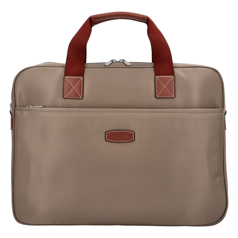 Luxusná taška na notebook svetlá taupe - Hexagona 171176 taupe