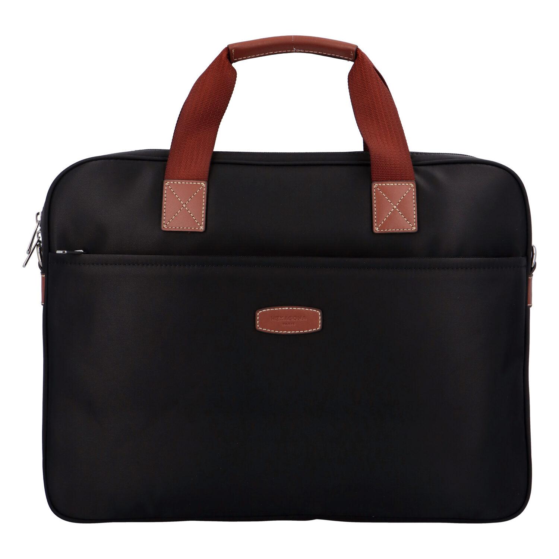 Luxusná taška na notebook čierna - Hexagona 171176 čierna